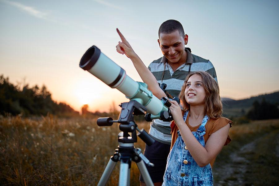 observación astronomica Valdemeca trufa